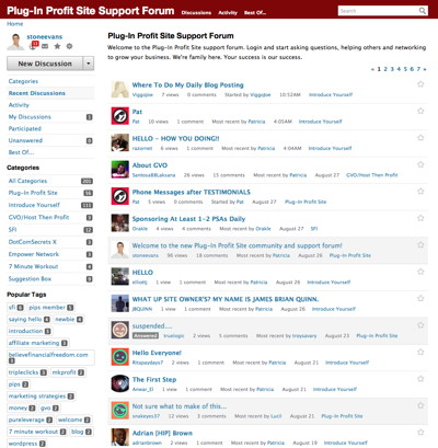 Plug-In Profit Site Forum